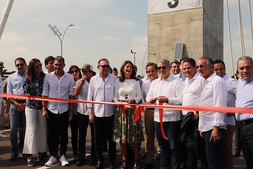 Iván Duque inaugura el Puente Pumarejo construido por Sacyr