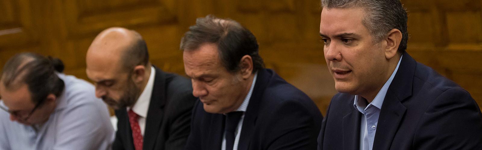 Encuentro con Iván Duque, candidato a la presidencia de Colombia