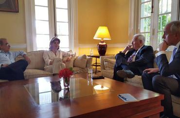 Reunión de los titulares de Exteriores de España y Colombia