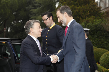 El presidente colombiano Juan Manuel Santos visita España