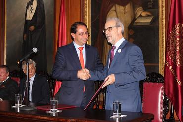 El rector de la Universidad de Salamanca visita Colombia