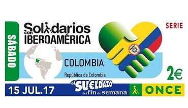 """Colombia, en la serie de cupones de la ONCE """"Solidarios con Iberoamérica"""""""