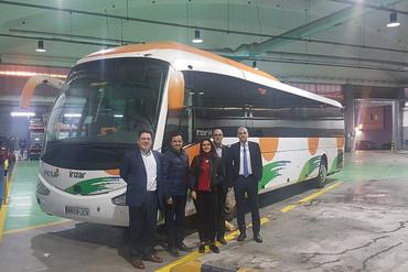 Delegación colombiana estudia la red de transporte de Euskadi