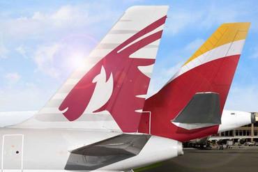 Iberia y Qatar Airways amplían su acuerdo de código compartido
