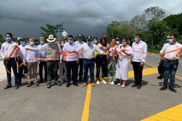Iván Duque inaugura la primera concesión de Sacyr en Colombia
