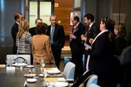 Almuerzo de los patronos con la presidenta de la Cámara de Comercio de Bogotá, Mónica de Greiff