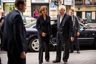 Llegada al MAEC de los ministros de Asuntos Exteriores de España y Colombia