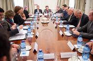 Reunión de los ministros María Ángela Holguín y José Manuel García-Margallo