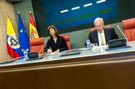 Rueda de prensa en el Ministerio de Asuntos Exteriores y de Cooperación